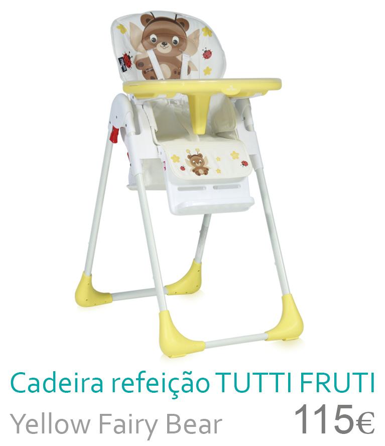cadeira de refeição tutti frutti yellow fairy bear