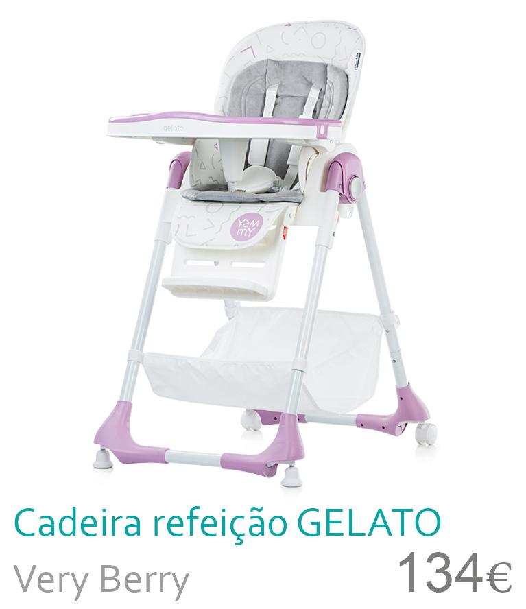 Cadeira de refeição GELATO Very Berry