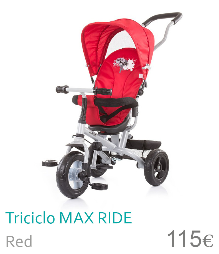 Triciclo Max Ride Red