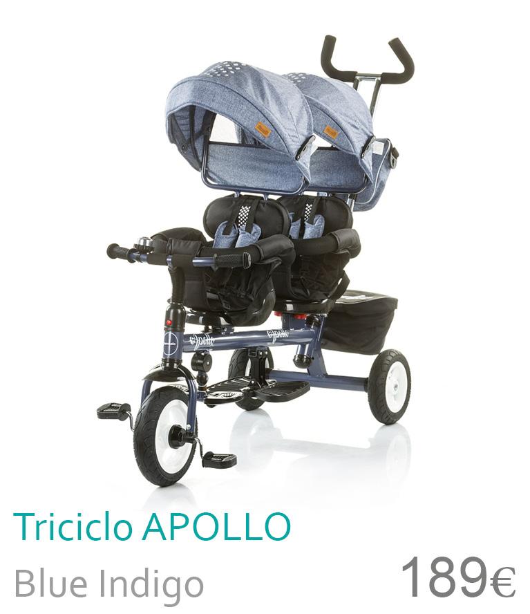 triciclo duplo apollo blue indigo