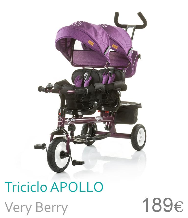 triciclo gêmeos apollo very berry