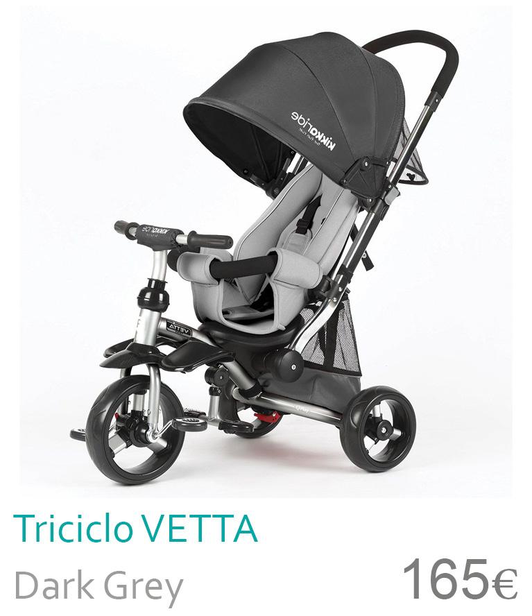 Triciclo Vetta Dark Grey