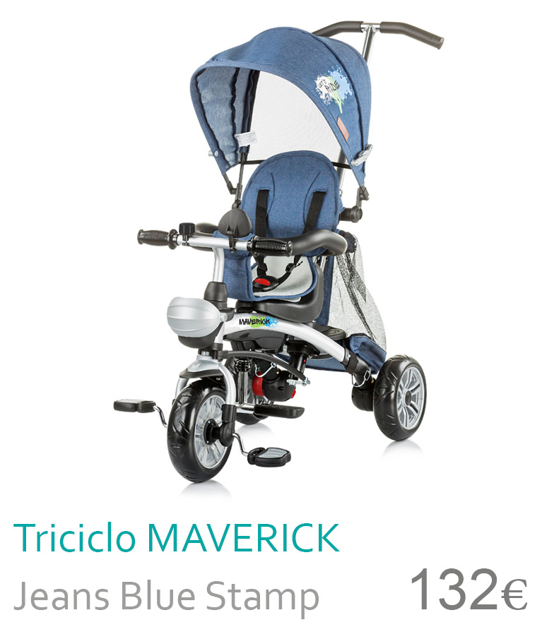 triciclo maverick jeans blue stamp
