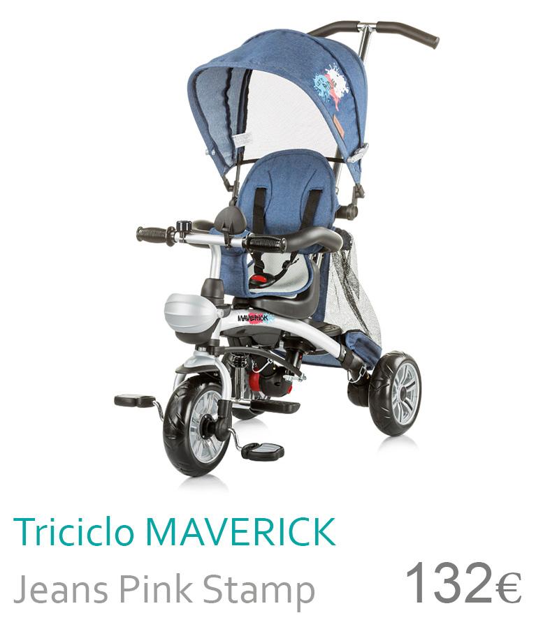 triciclo maverick jeans pink stamp