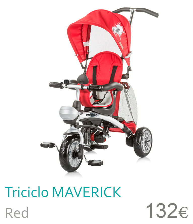 triciclo maverick red