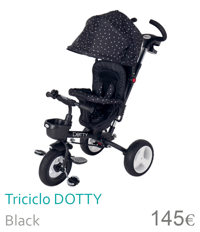 Triciclo Dotty Black